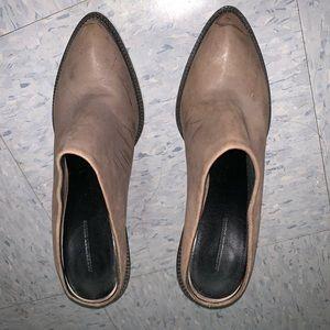 Alexander wang brown mule leather booties